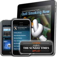 Quit smoking mobile phone app